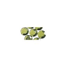 Glas-Strasssteine, zum Aufbügeln, 5 mm ø, SB-Btl. 45 St., h.grün