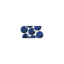 Glas-Strasssteine, zum Aufbügeln, 5 mm ø, SB-Btl. 45 St., d.blau