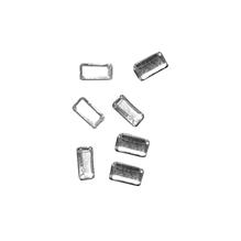 Glas-Strasssteine Baguettes, 3x5 mm, zum Aufbügeln, SB-Btl. 25 Stück, kristall