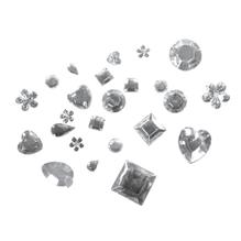 Acryl-Strass-Mix, versch. Formen, 5-14mm, SB-Blisterbox 1000Stück, kristall
