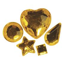 Acryl-Strasssteine zum Aufkleben, 3-12 mm, 5 Sorten, SB-Btl 58Stück, gelb