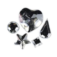 Acryl-Strasssteine zum Aufkleben, 3-12 mm, 5 Sorten, SB-Btl 58Stück, kristall