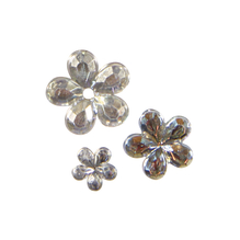 Acryl- Strassblüten, 5,8,10mm, SB-Btl 310Stück, kristall iris.