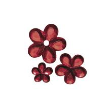 Acryl- Strassblüten, 5,8,10mm, SB-Btl 310Stück, rot