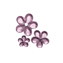 Acryl- Strassblüten, 5,8,10mm, SB-Btl 310Stück, rosé