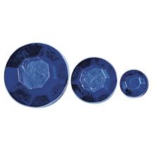 Acryl- Strasssteine, 6,10,14mm, SB-Btl 310Stück, d.blau