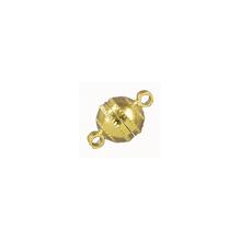 Magnetschließe, rund, 7mm ø, SB-Btl 1Stück, gold