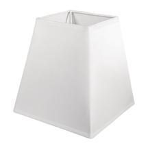Lampenschirm, quadratisch, 16,5x16,5 cm, Höhe 16,5 cm, weiß
