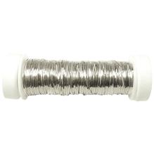Brillantdraht, flach, 1 mm ø, SB-Btl. 1 Spule à 20 m, silber