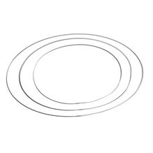 Metallringe, pulverbeschichtet, grau, oval, 36,5x22 cm
