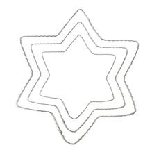 Metallstern aus gewelltem Flachdraht, 25 cm ø