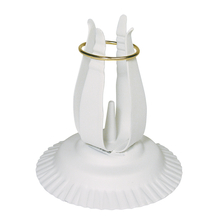 Kerzenhalter für Tauf-/Kommunionkerzen, metall, 11 cm ø, 12 cm hoch, weiß
