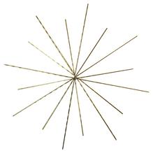 Drahtstern für Perlen, 10/8cm ø, Drahtstärke 0,6mm, SB-Btl 3Stück