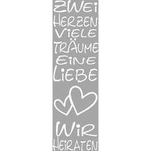 Stempel, Zwei Herzen, Viele Träume..., 4x12 cm