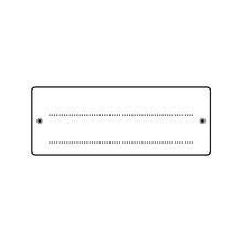 Mini-Silikonstempel, klar, 4x7 cm, Rahmen