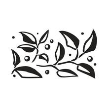 Mini-Silikonstempel klar, 4x7 cm, -Blätterreigen-