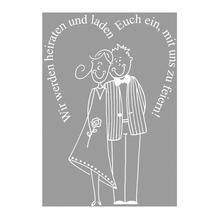 Stempel Wir werden heiraten und..., 6x8cm