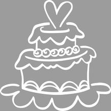 Stempel Hochzeitstorte, 6x6cm