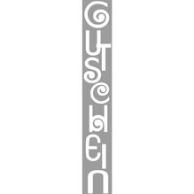 Stempel Gutschein, 3x10cm