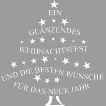 Stempel Glänzendes Weihnachtsfest u..., 6x6cm