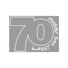 Holz Stempel 70-Lasst uns feiern, 5x7cm