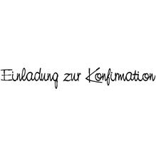 H.- Stempel Einladung zur Konfirmation, 2x10cm, Art.11232