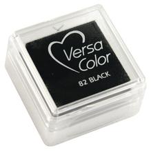 Stempelkissen Versacolor, Stempelfläche 2,5x2,5 cm, schwarz