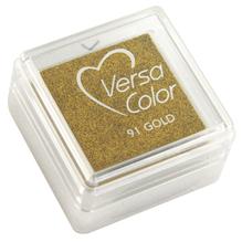Stempelkissen Versacolor, Stempelfläche 2,5x2,5 cm, brill.gold
