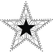 H.- Stempel Stern, 6x6cm, Art. 27316