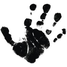 H.- Stempel Hand, 4x4cm, Art. 27714