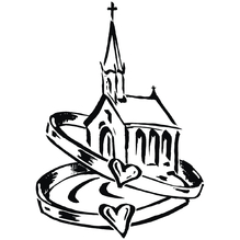 H.- Stempel Kirche mit Eheringen, 7x9cm, Art. 27824