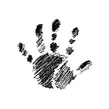 H.- Stempel Hand rechts, 3,2cm ø, Art. 28710