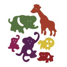 Crepla-Zoo, 6 Sorten, 3-8,5 cm, SB-Btl. 80 Stück, gemischt