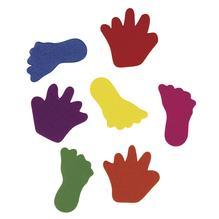 Crepla-Hände&Füße, 2 Sorten, 3-3,5 cm, SB-Btl. 130 Stück, gemischt