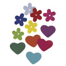 Crepla-Blumen-Herzen, 2 Sorten, 2,5-3 cm, SB-Btl. 140 Stück, gemischt