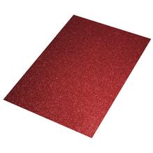 Crepla Platte Glitter, 30x45x0,2cm, rot