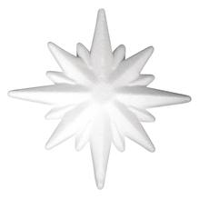 Styropor Stern, 10,5cm ø, 1,5cm