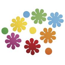 Crepla Stanzteile Blumen, 5,5cm, selbstklebend, SB-Btl 40Stück, bunt