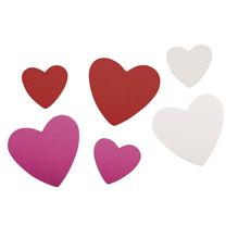 Crepla Stanzteile Herzen, 2,8-4,2cm,selbstklebend, SB-Btl 100Stück, bunt