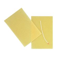 Bienenwachswabe, 50 %, 13x40cm, mit Docht, SB-Btl 1Platte