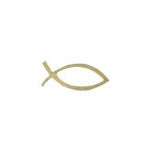 Wachsmotiv: Christlicher Fisch, 5x2 cm, SB-Btl. 1 Stück, gold