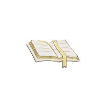 Wachsmotiv: Gebetbuch, 5x2,5 cm, SB-Btl. 1 Stück