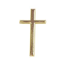 Wachsmotiv: Kreuz, 4cm, SB-Btl 1Stück, gold