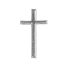 Wachsmotiv: Kreuz, 4cm, SB-Btl 1Stück, silber