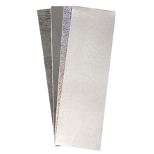 Wachsfolie Silber-Töne, 20x6,5cm, 4 Farben sort., SB-Btl 4Stück
