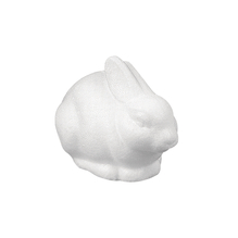 Styropor-Hase, sitzend, 14x8 cm