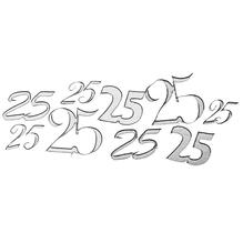 Klebemotiv 25, Bogen 10x24,5 cm, silber