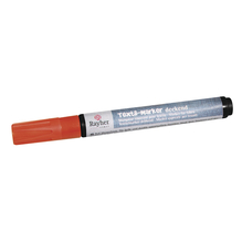 Textil-Marker deckend, Rundspitze 2-4 mm, mit Ventil, orange