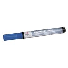 Textil-Marker deckend, Rundspitze 2-4 mm, mit Ventil, azurblau