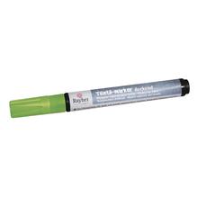 Textil-Marker deckend, Rundspitze 2-4 mm, mit Ventil, apfelgrün